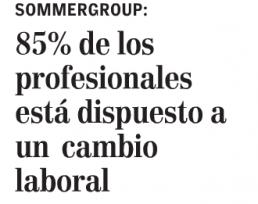 """""""85% de los profesionales está dispuesto a un cambio"""", Economía y Negocios, el Mercurio, domingo 26/03/17"""