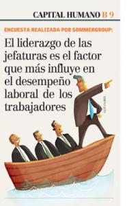 """""""Liderazgo de las jefaturas es el factor que más influye en el desempeño laboral"""", Capital Humano, Economía y Negocios, diario el Mercurio, 3/06/19"""
