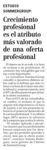 """""""Crecimiento profesional es el atributo más valorado de una oferta profesional"""", Economía y Negocios, el Mercurio, domingo 16/04/17"""
