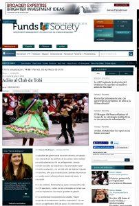 """""""Adiós al club de Tobi"""", Revista Funds Society, 9/3/19"""