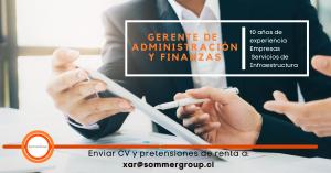Gerente de Administración y Finanzas