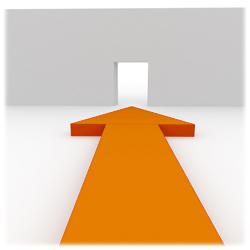 objetivo flecha naranja 6 6 13