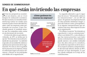 """""""En qué están invirtiendo las empresas"""", Economía y Negocios, el Mercurio, domingo 24/12/17"""