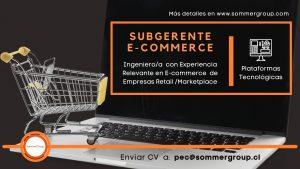 Subgerente de E Commerce